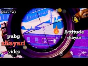 Pubg shayari video | part #23 | #Attitude Shayari 🔥