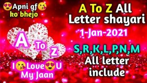 14-Jan-2021 A to Z all Letter Whatsapp status | love shayari | #Quotes #Love #Letterstatus