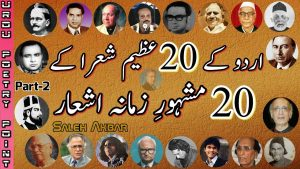 Two Line Best Urdu Poetry Collection By Famous Poets | 2 Line Shayari Of Great Poets |Saleh Akbar|#2