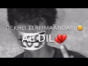 DEKHLI TERI IMAANDARI 🧐 AE DIL 💔!"