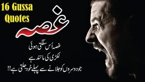 Gussa 16 best quotes in Urdu Hindi with voice and Images || Aqwal e zareen About Gussa