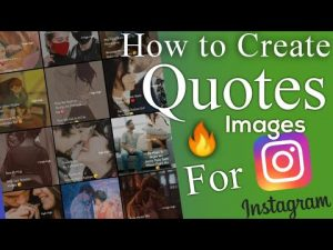How to Create Quotes Images for Instagram | How to edit photos for  Instagram