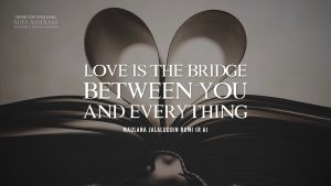 Rumi Quotes ( Love is the bridge between you and everything. )