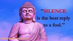 Famous Quotes About Power Of Silence By Lord Gautama Buddha