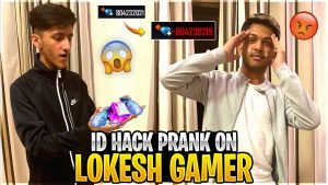Id Hack Prank On Lokesh Gamer😂 In Gaming House Wasting All His Diamonds 💎 – Garena Free Fire